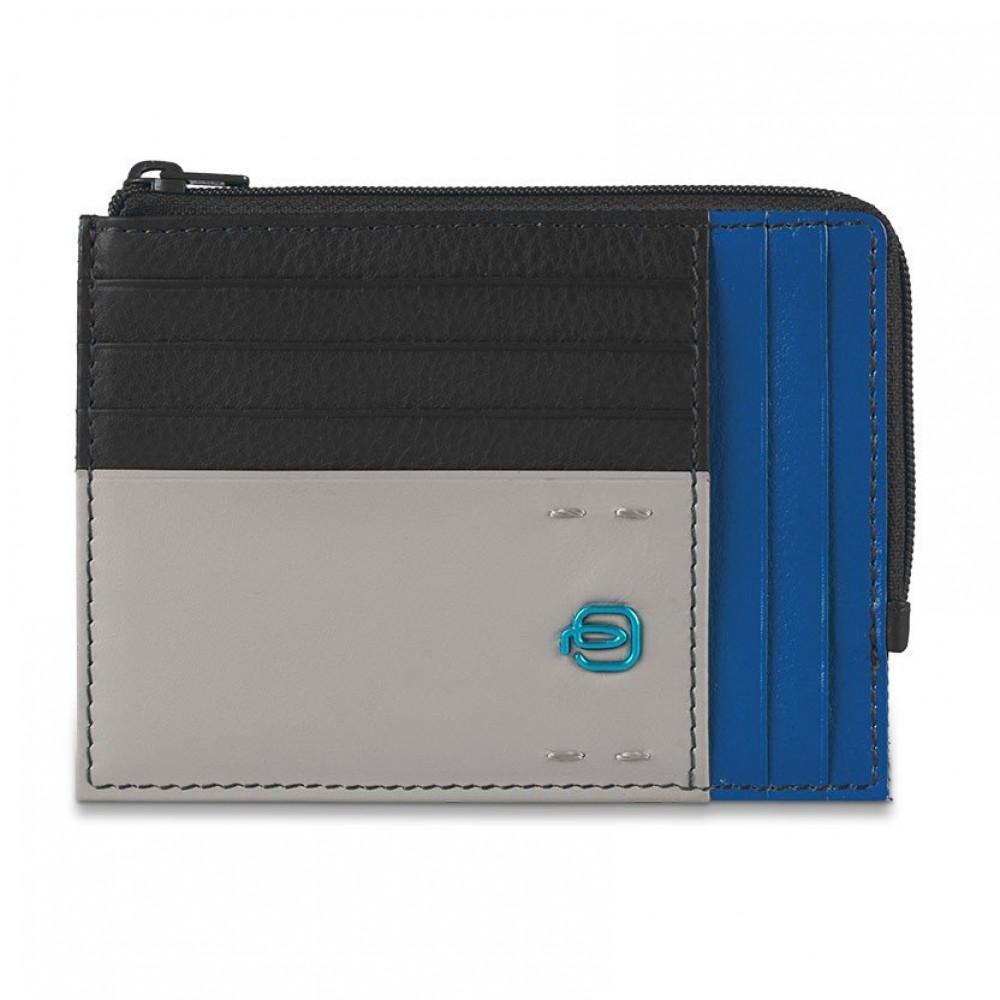 PULSE Black-Blue Кредитница с отдел. для монет