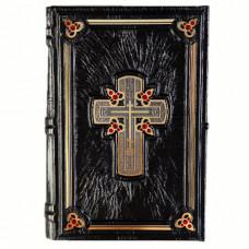 Библия чёрная с кристаллами