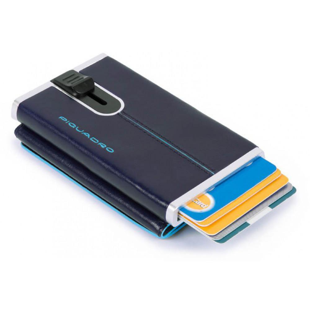BL SQUARE/N.Blue Кредитница-портмоне с выдвижным механизмом с RFID защитой (6,2x10,5x2)