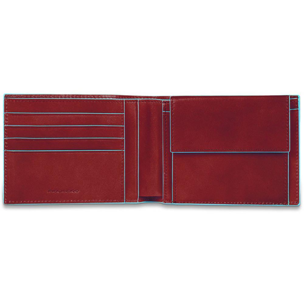 BL SQUARE/Red Портмоне с отдел. для монет с RFID защитой (12,5x9x2)