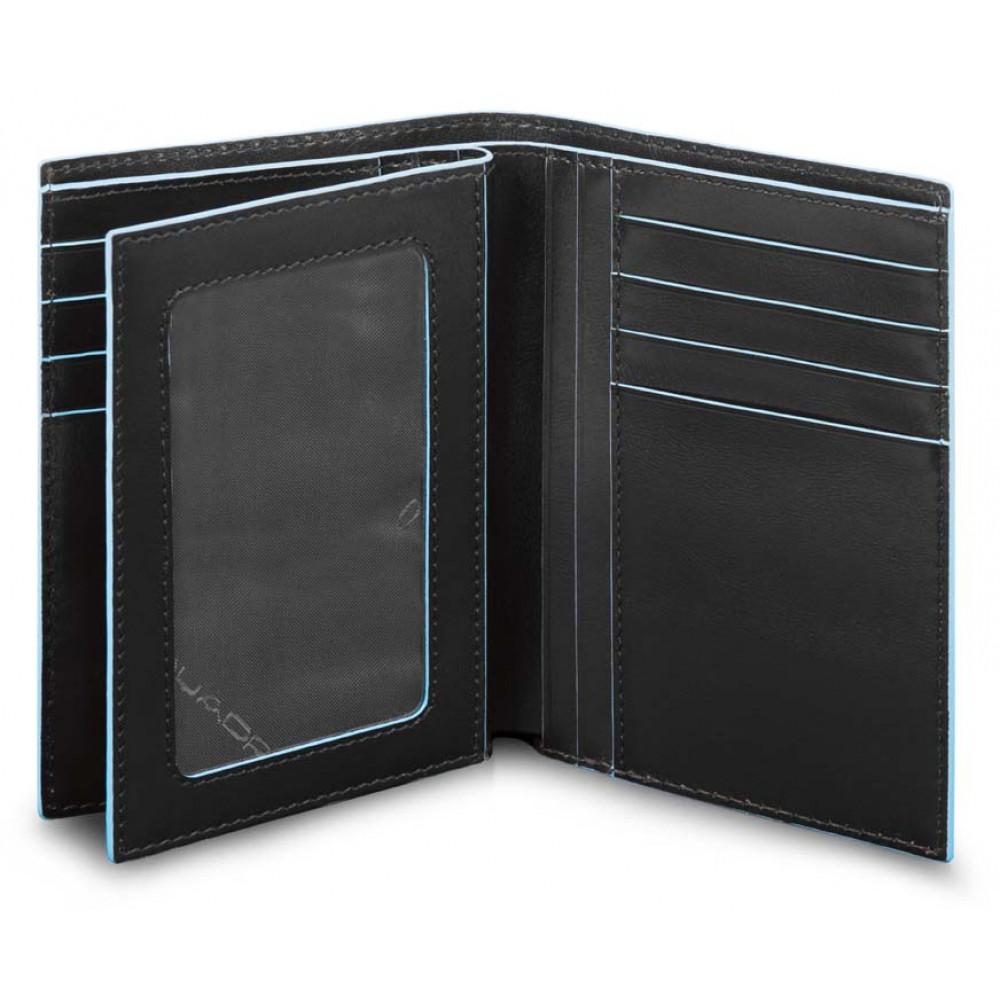 BL SQUARE/Black Портмоне верт. с отдел. ID с RFID защитой (9,5x13x2)