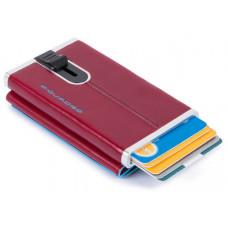 BL SQUARE/Red Кредитница-портмоне с выдвижным механизмом с RFID защитой (6,2x10,5x2)