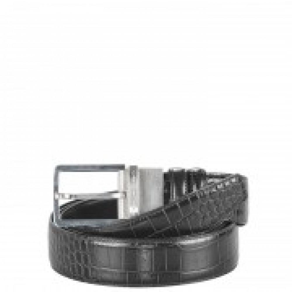 C31/Black Ремень мужской двухстор. крокодил/гладкий (3,5x127)