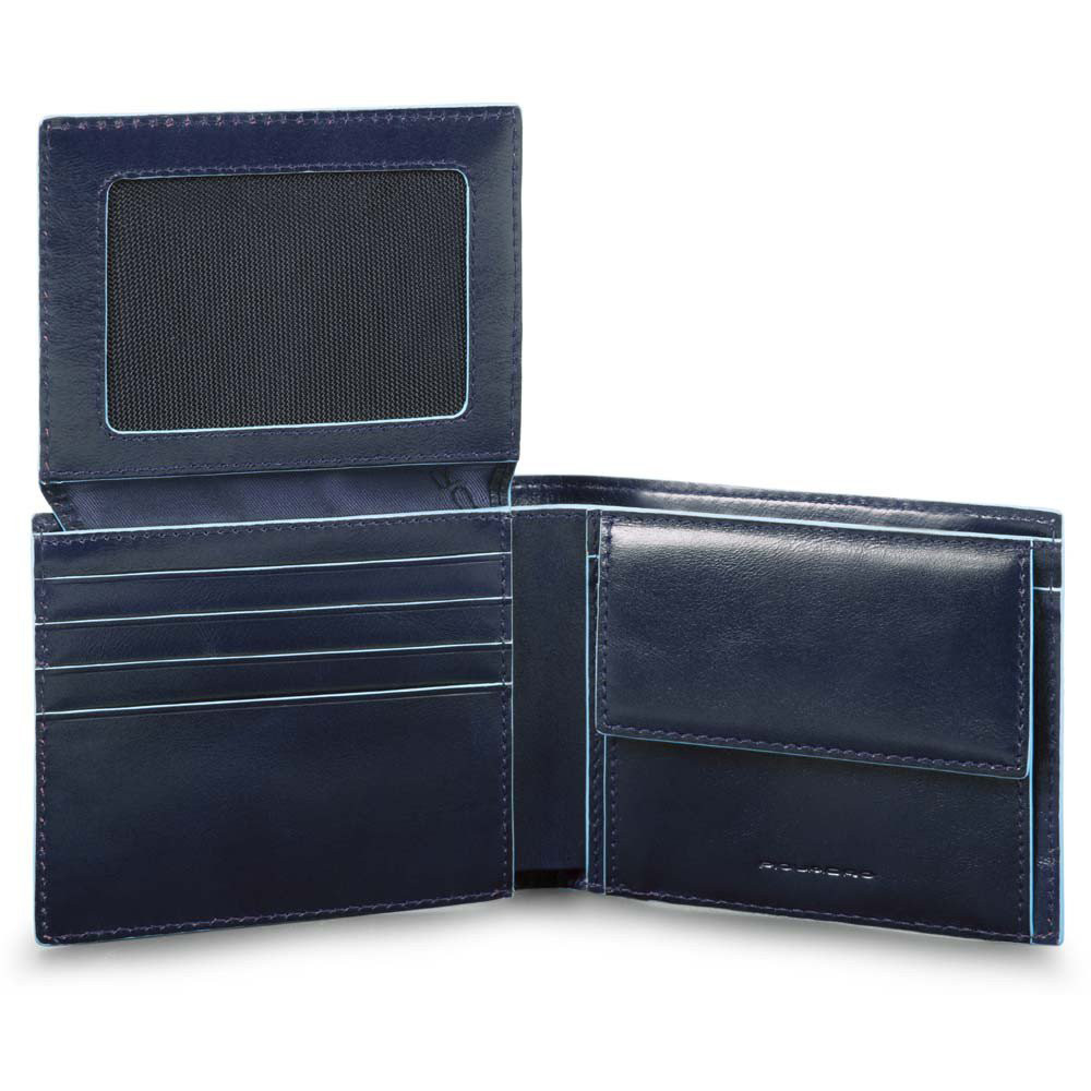 BL SQUARE/N.Blue Портмоне гориз. с отдел. для док. и монет с RFID защитой (11x9x2)