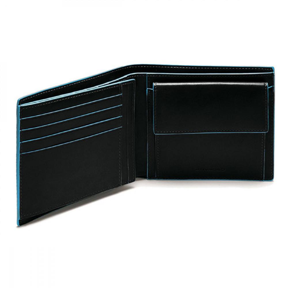 BL SQUARE/Black Портмоне гориз. с отдел. д/монет (12,5x9,5x2,5)