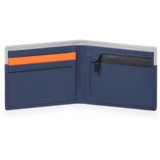 URBAN/Blue-Grey2 Портмоне с отдел. для монет с RFID защитой (11x9x1,5)