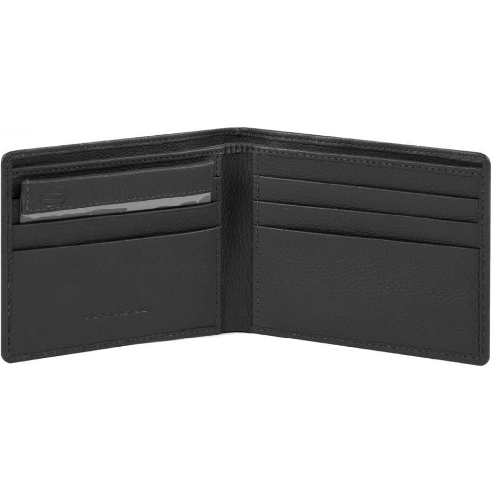 AKRON/Black Портмоне гориз. с отдел. для док. с RFID защитой (11x9x1,5)