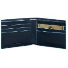BL SQUARE/N.Blue Портмоне гориз. с отдел. для док. с RFID защитой (11x9x1,5)