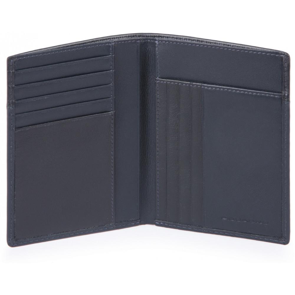 URBAN/Blue Портмоне верт. с отдел. для 9 кред.карт с RFID защитой (9,5x12,5x1)