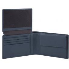 AKRON/Blue Портмоне гориз. с отдел. для док. с RFID защитой (13x9x2,5)