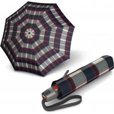 Зонт T.200 Check Navy&Bordeaux Авто/Складной/8спиц /D98x28см