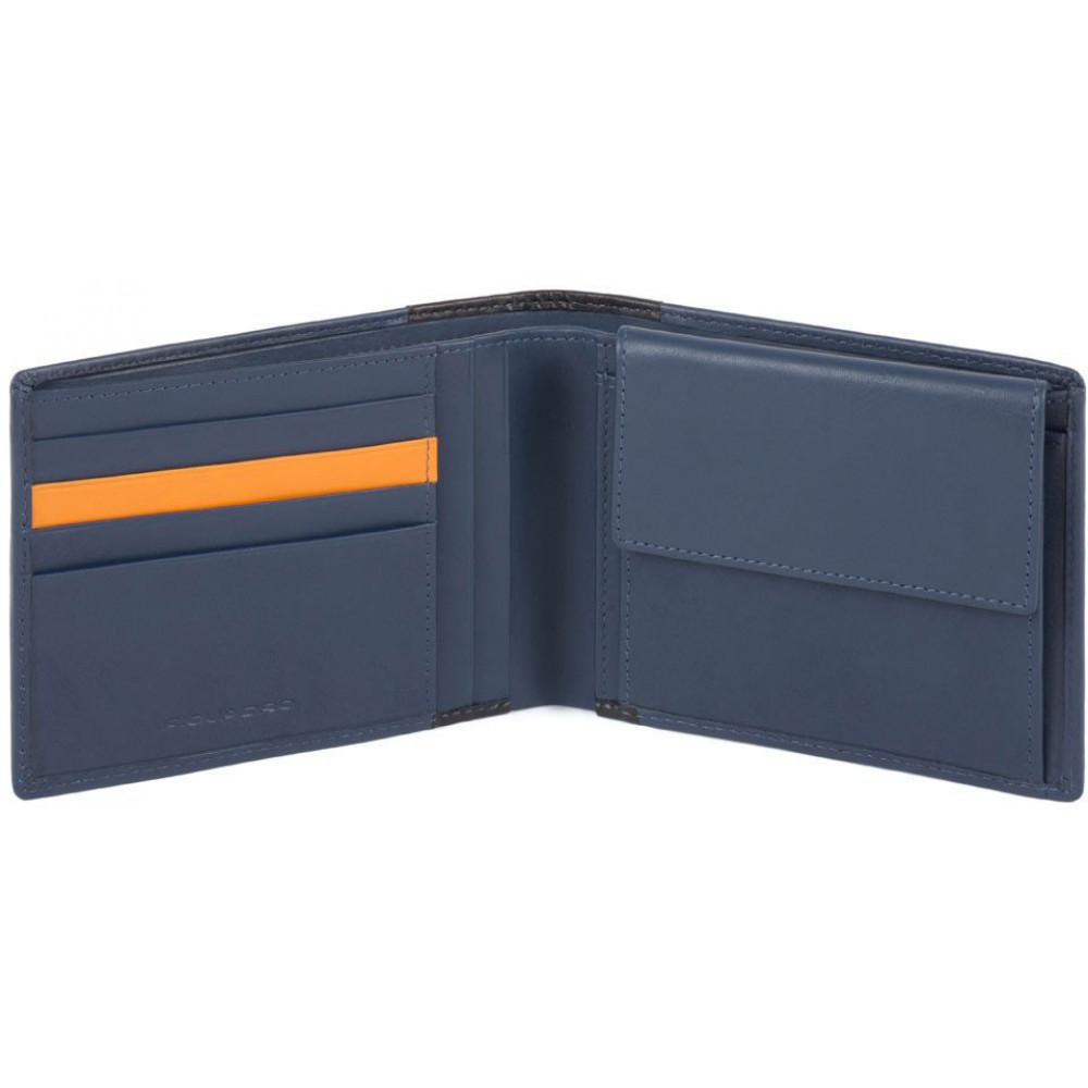 DOWNTOWN/Blue Портмоне с отдел. для монет с RFID защитой (13x9,5x2)