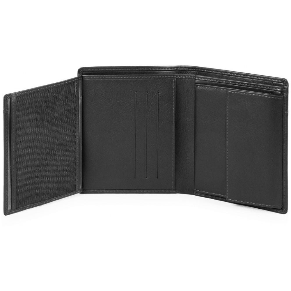 URBAN/Black Портмоне верт. с отдел. ID с RFID защитой (10x12,5x1,5)