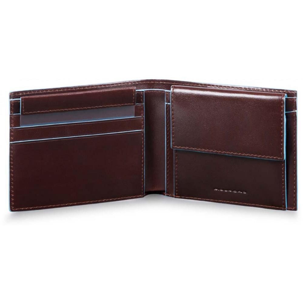 BL SQUARE/Cognac Портмоне гориз. с отдел. для монет с RFID защитой (11x9x2)