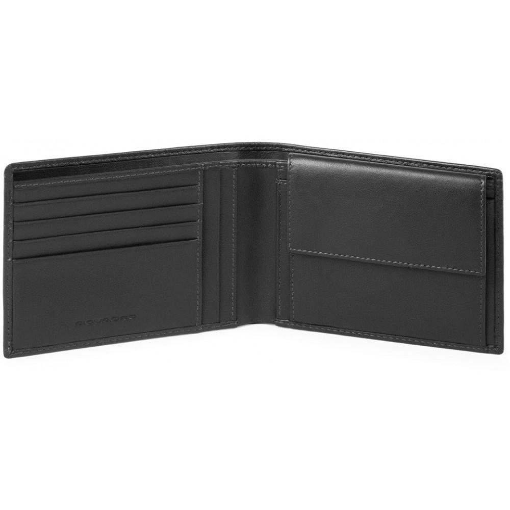 URBAN/Black Портмоне с отдел. для монет с RFID защитой (13x9,5x2)