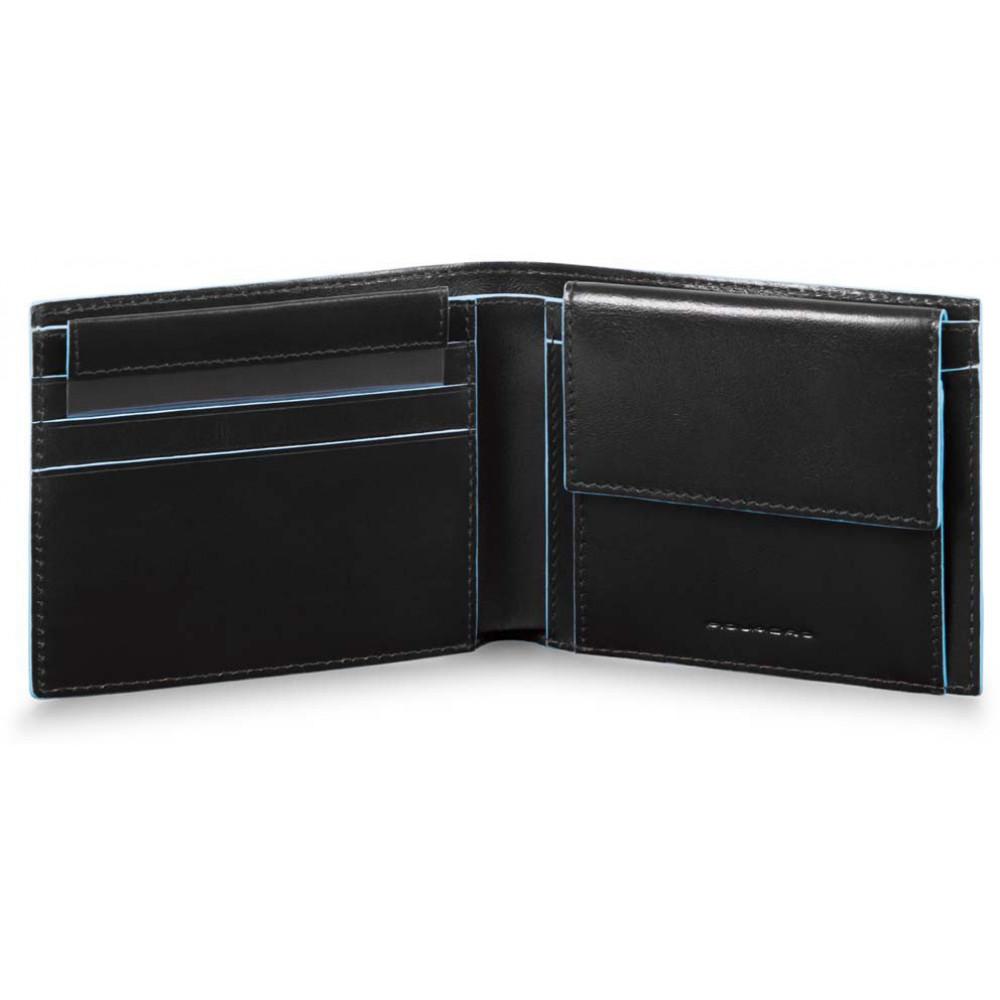 BL SQUARE/Black Портмоне гориз. с отдел. для монет с RFID защитой (11x9x2)