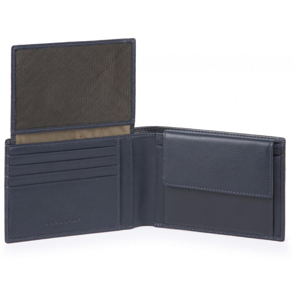 URBAN/Blue Портмоне гориз. с отдел. для док. с RFID защитой (13x9x2)