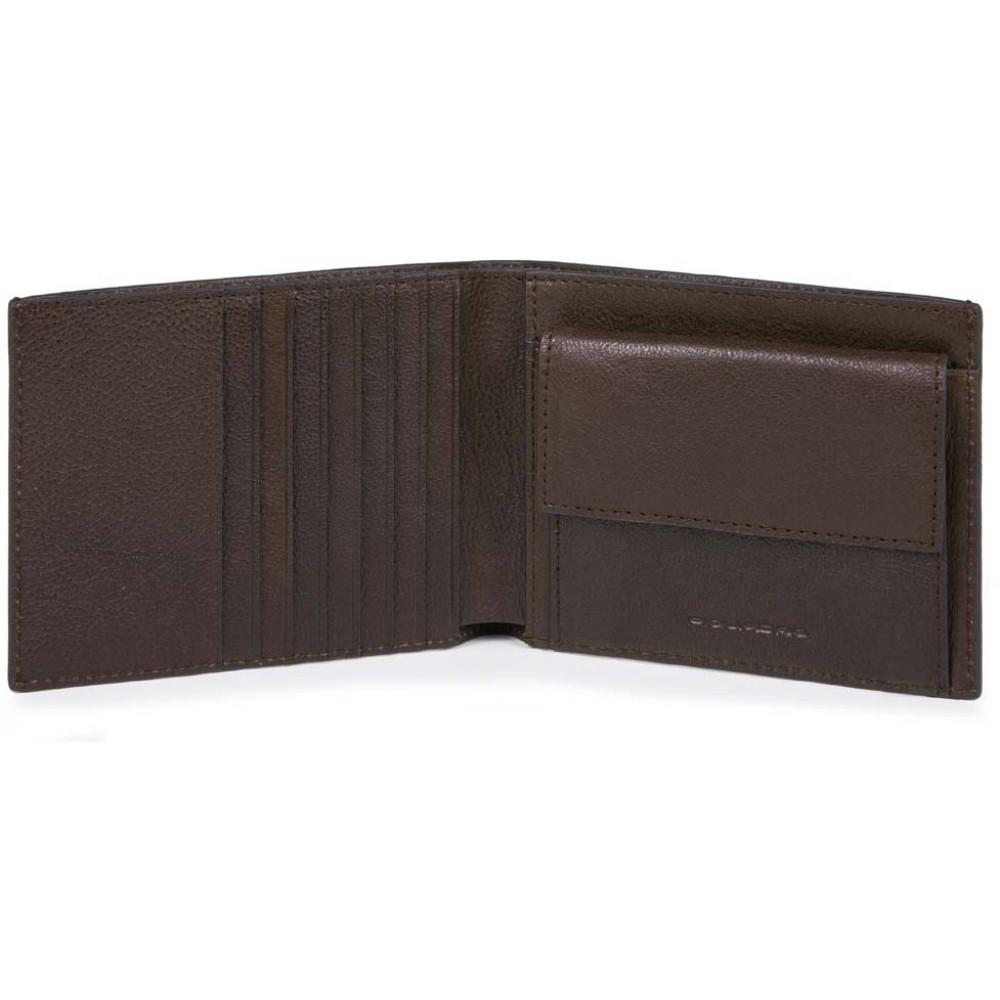 BK SQUARE/D.Brown Портмоне с отдел. для монет с RFID защитой (13,5x9,5x2)