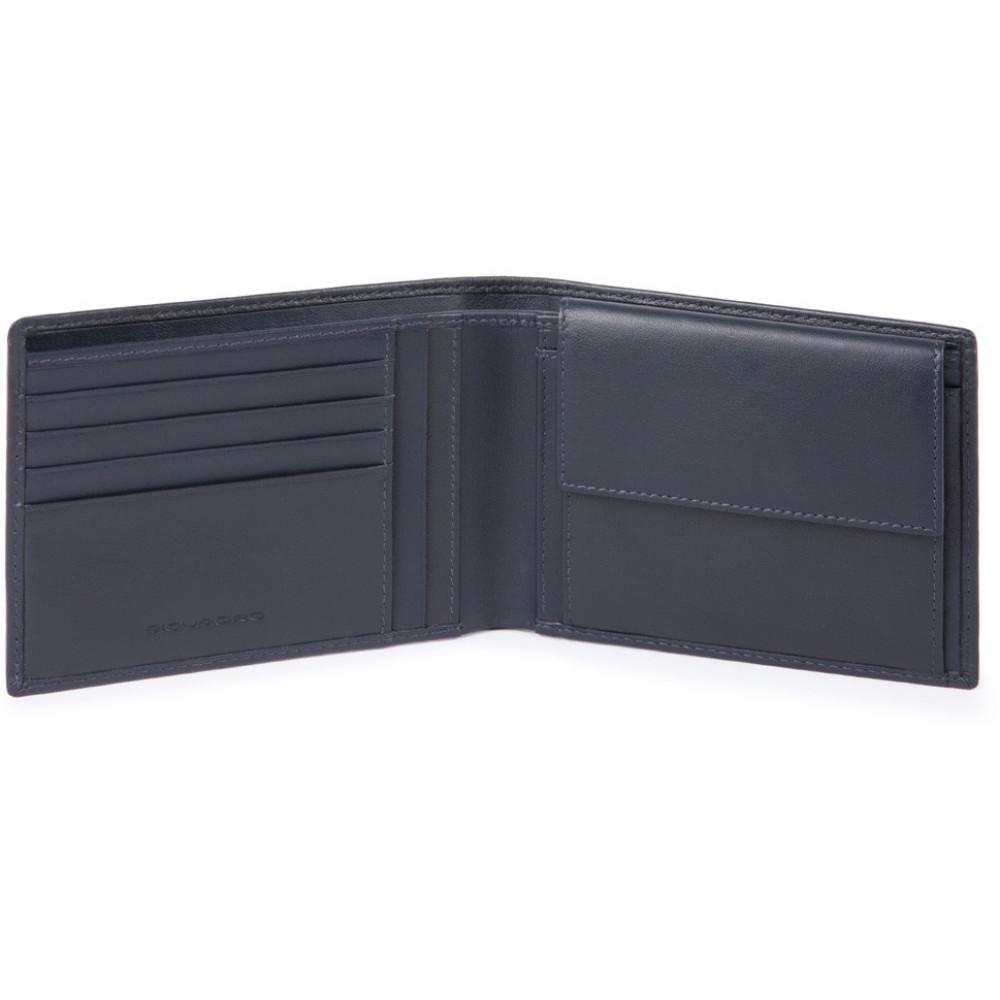 URBAN/Blue Портмоне с отдел. для монет с RFID защитой (13x9,5x2)