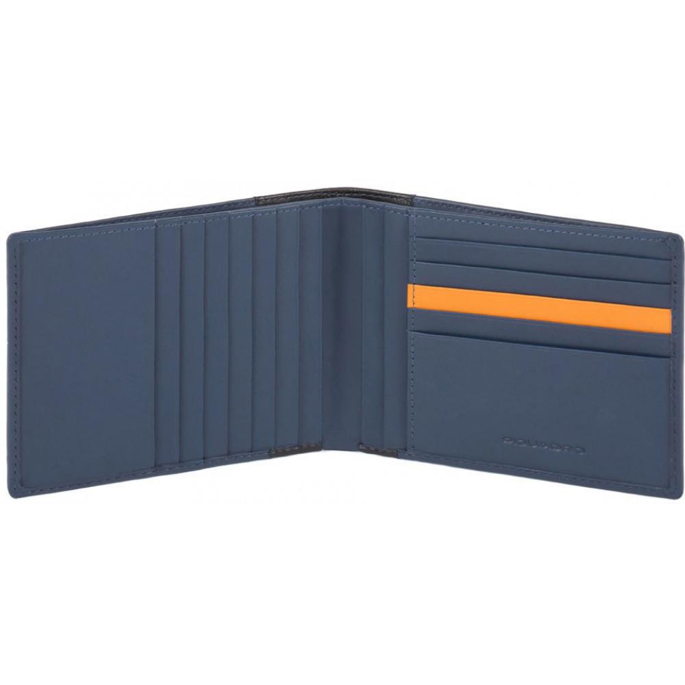 DOWNTOWN/Blue Портмоне с отдел. для 12 кред.карт с RFID защитой (13x9,5x1,5)