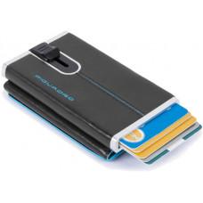BL SQUARE/Black Кредитница-портмоне с выдвижным механизмом с RFID защитой (6,2x10,5x2)