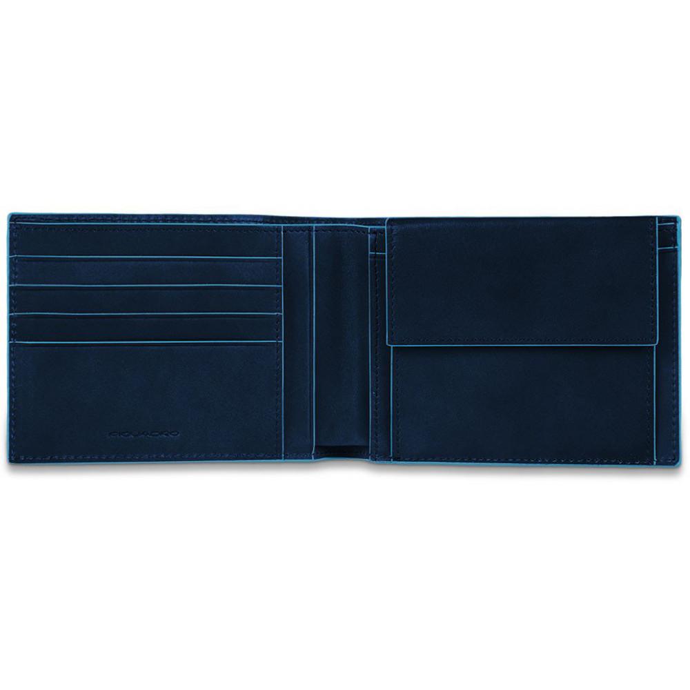 BL SQUARE/N.Blue Портмоне с отдел. для монет с RFID защитой (12,5x9x2)