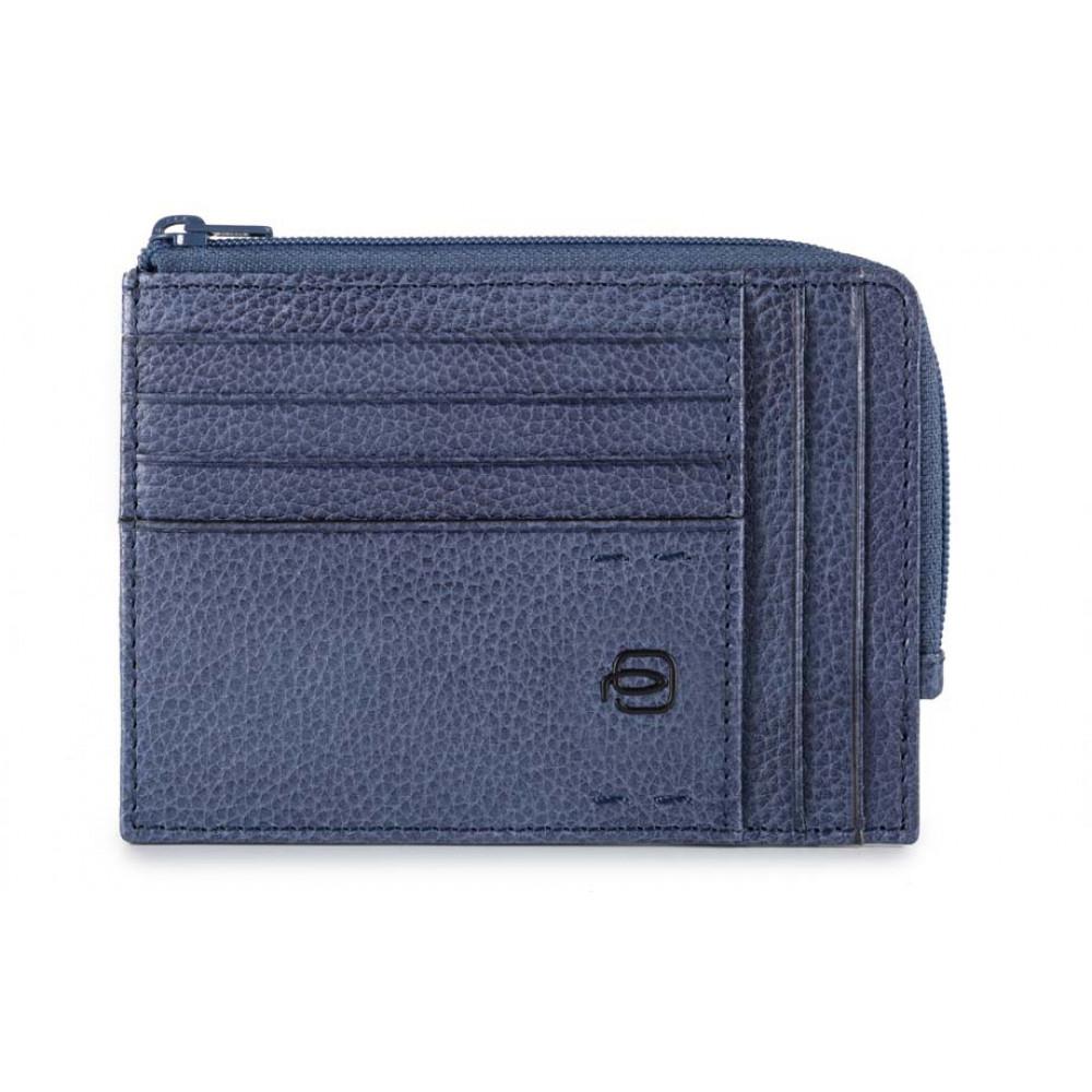 PULSE Blue Кредитница с отдел. для монет на молнии