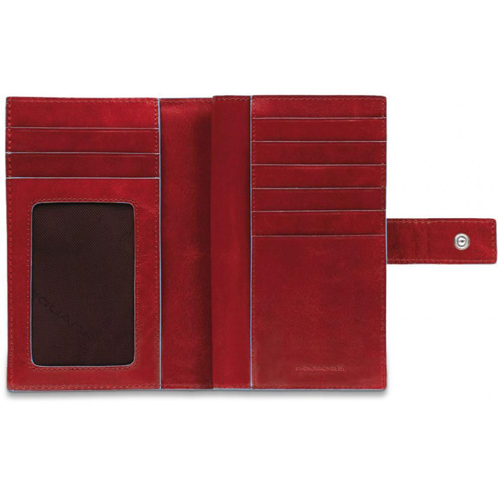 BL SQUARE/Red Портмоне верт. с отдел. для монет на молнии с RFID защитой (9,5x15,5x2,5)