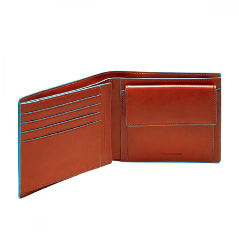 BL SQUARE/Orange Портмоне гориз. с отдел. д/монет (12,5x9,5x2,5)