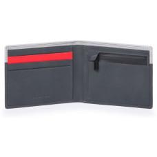URBAN/Grey-Black Портмоне с отдел. для монет с RFID защитой (11x9x1,5)