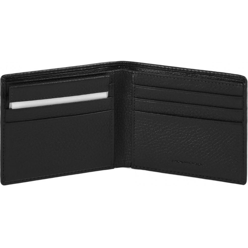 MODUS Restyling/Black Портмоне гориз. с отдел. для док. с RFID защитой (11x9x1,5)