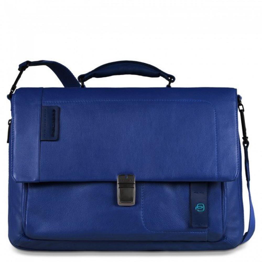 PULSE/Blue Портфель с отдел. д/ноутбука/iPad/iPad Air/iPad mini со сьемным ремнем (41,5x29x12)