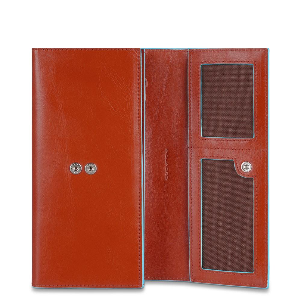 BL SQUARE/Orange Портмоне жен. с 3 отдел. на кнопке (9,5x19x3,5)