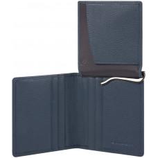 AKRON/Blue Портмоне верт. с зажимом для банкнот с RFID защитой (9x11x1,5)