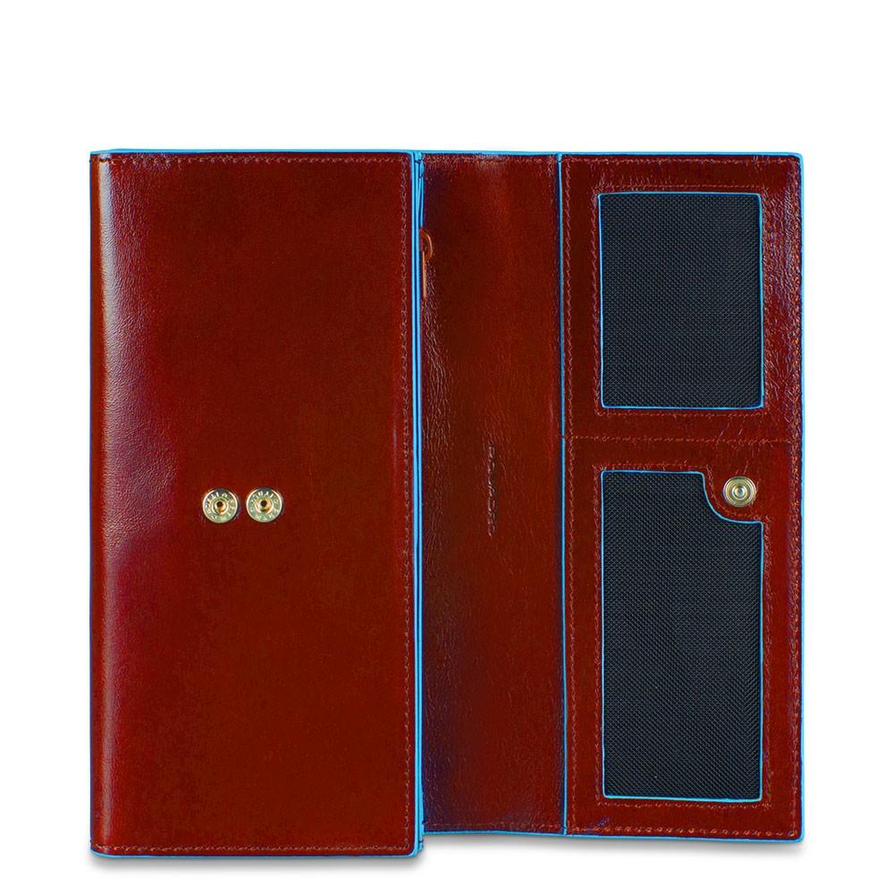BL SQUARE/Red Портмоне жен. с 3 отдел. на кнопке (9,5x19x3,5)