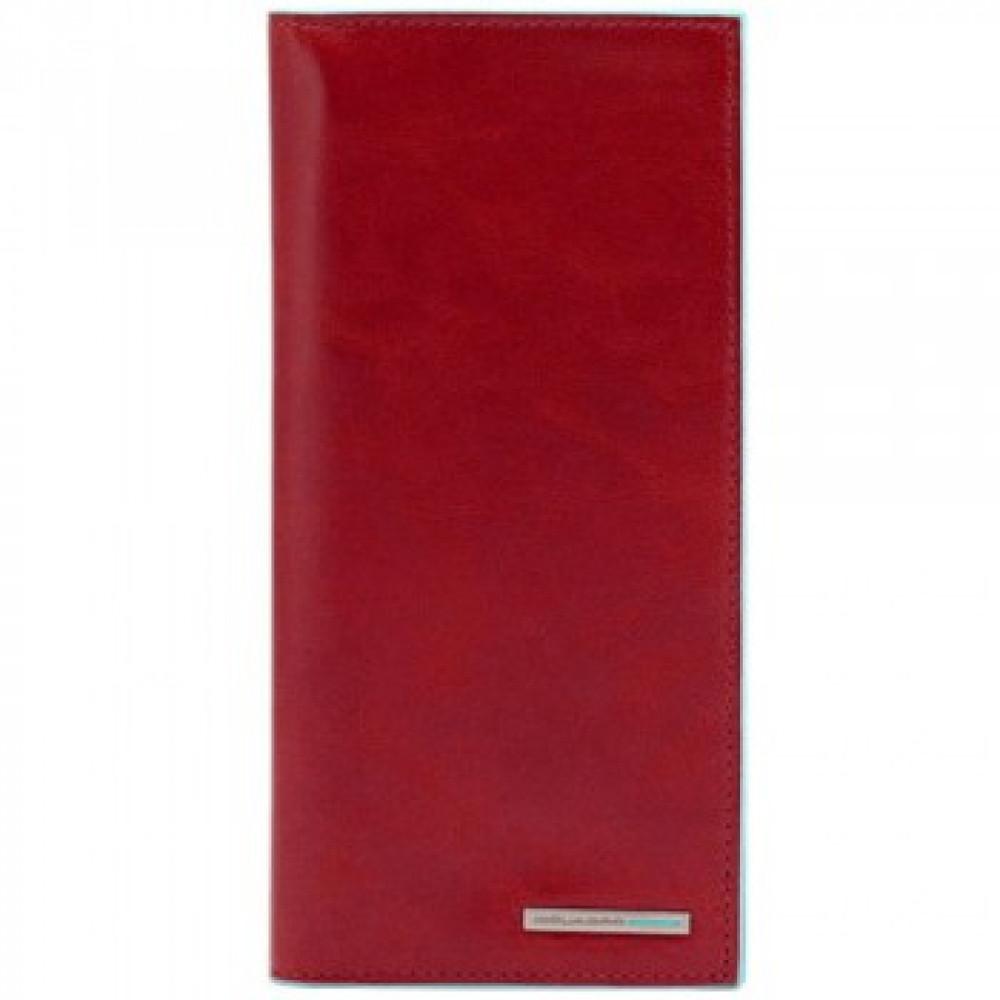 BL SQUARE/Red Портмоне верт. с отдел. для кред.карт (9,3x18x2)