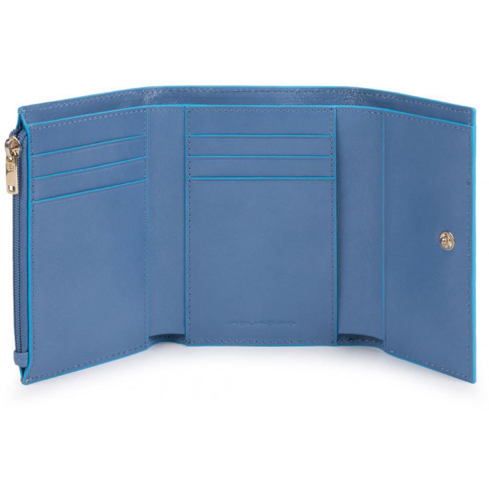BL SQUARE/P.Blue Портмоне верт. с отдел. для 6 кред.карт с RFID защитой (8,5x12x2,5)