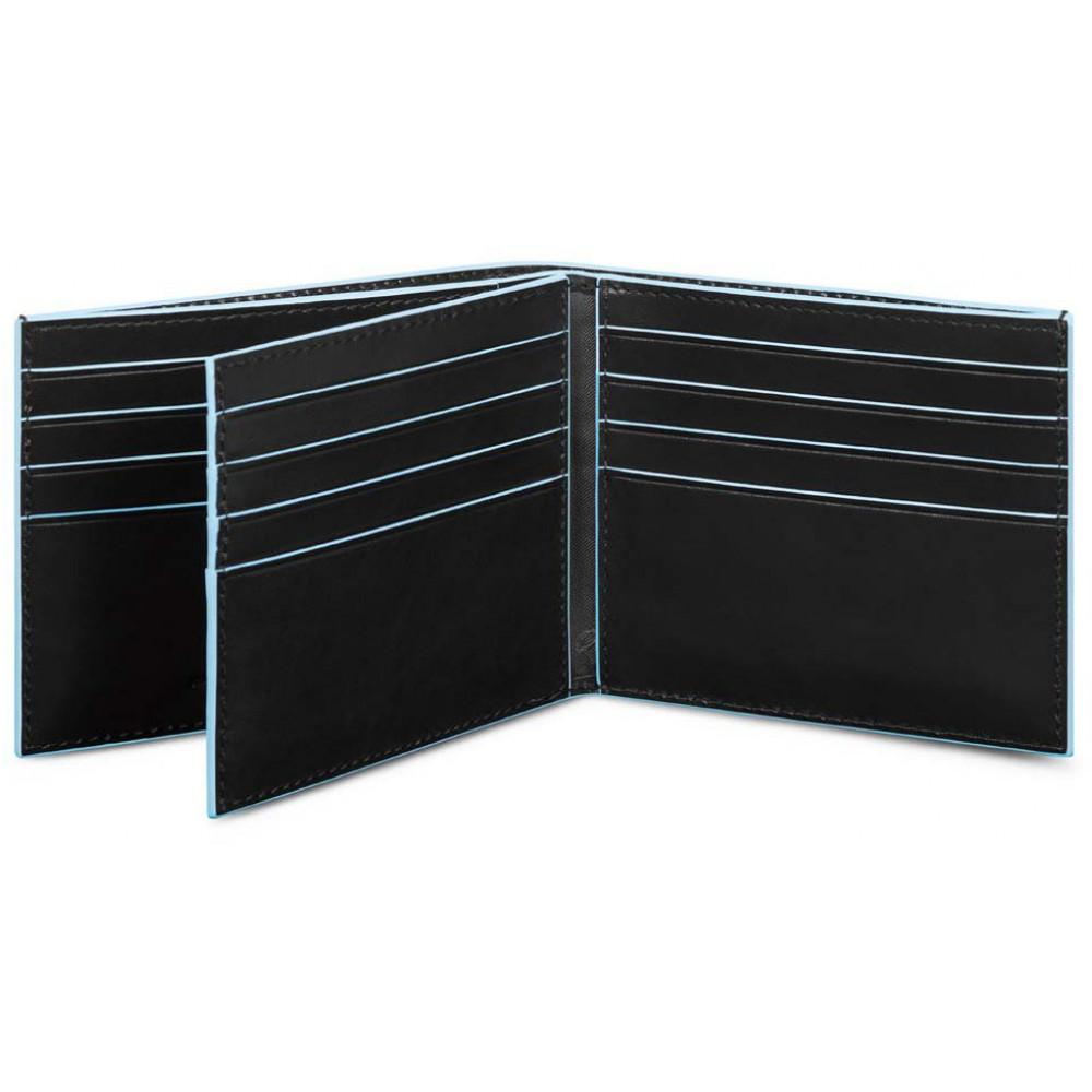 BL SQUARE/Black Портмоне гориз. с отдел. для 16 кред.карт с RFID защитой (11,5x9x2)