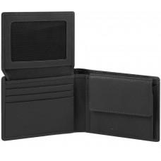AKRON/Black Портмоне гориз. с отдел. для док. и монет с RFID защитой (11x9x2,5)