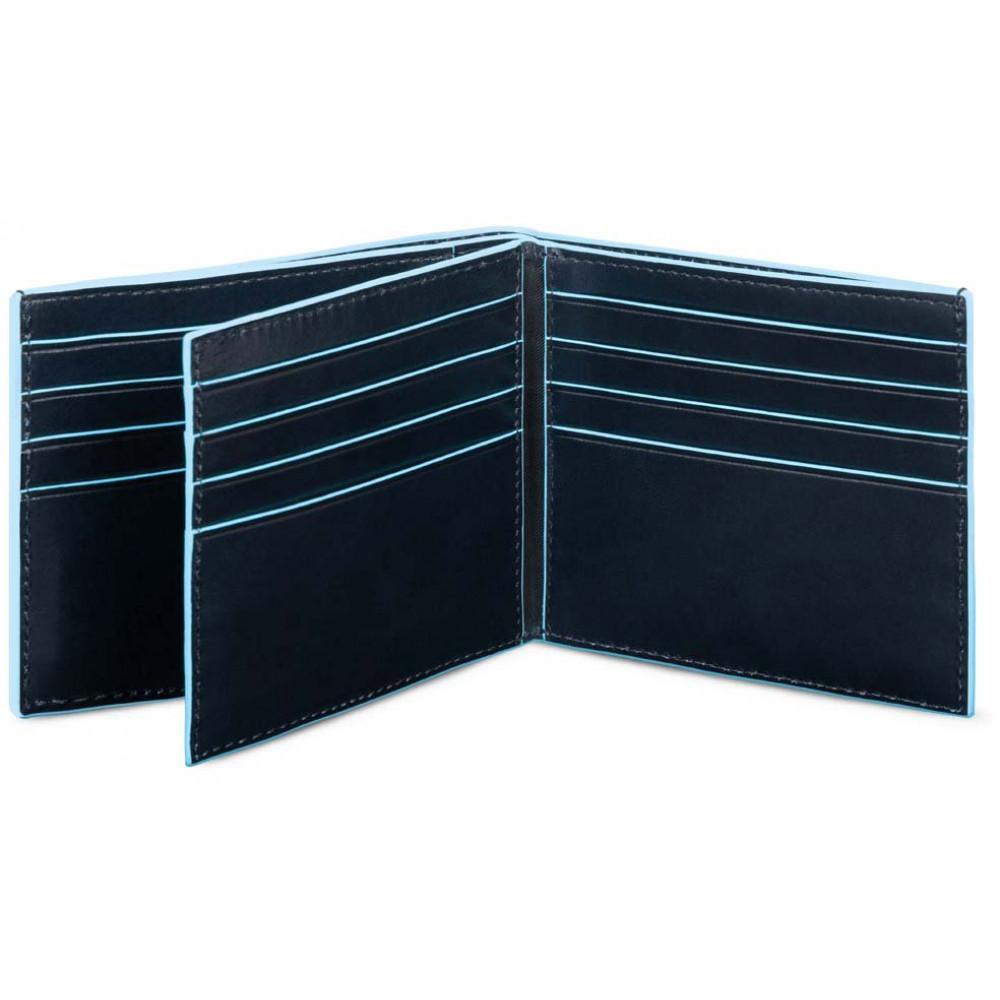 BL SQUARE/N.Blue Портмоне гориз. с отдел. для 16 кред.карт с RFID защитой (11,5x9x2)