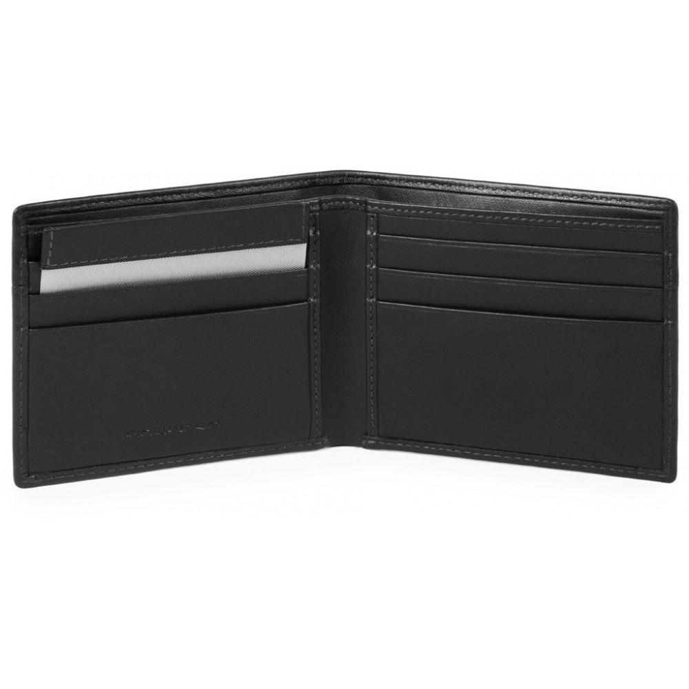 URBAN/Black Портмоне гориз. с отдел. для док. с RFID защитой (11x9x1,5)