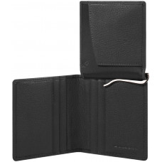 AKRON/Black Портмоне верт. с зажимом для банкнот с RFID защитой (9x11x1,5)
