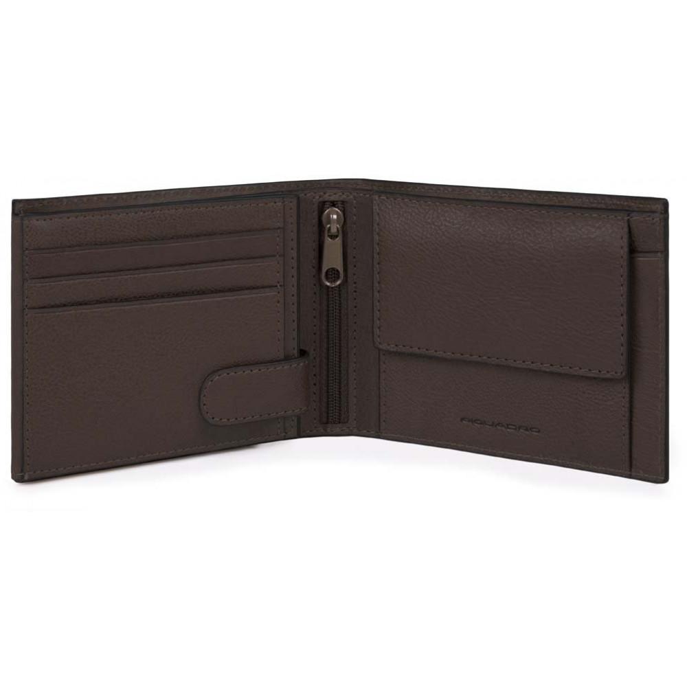 BK SQUARE/D.Brown Портмоне с отдел. для монет и 11 кред.карт с RFID защитой (12,5x9,5x2,5)