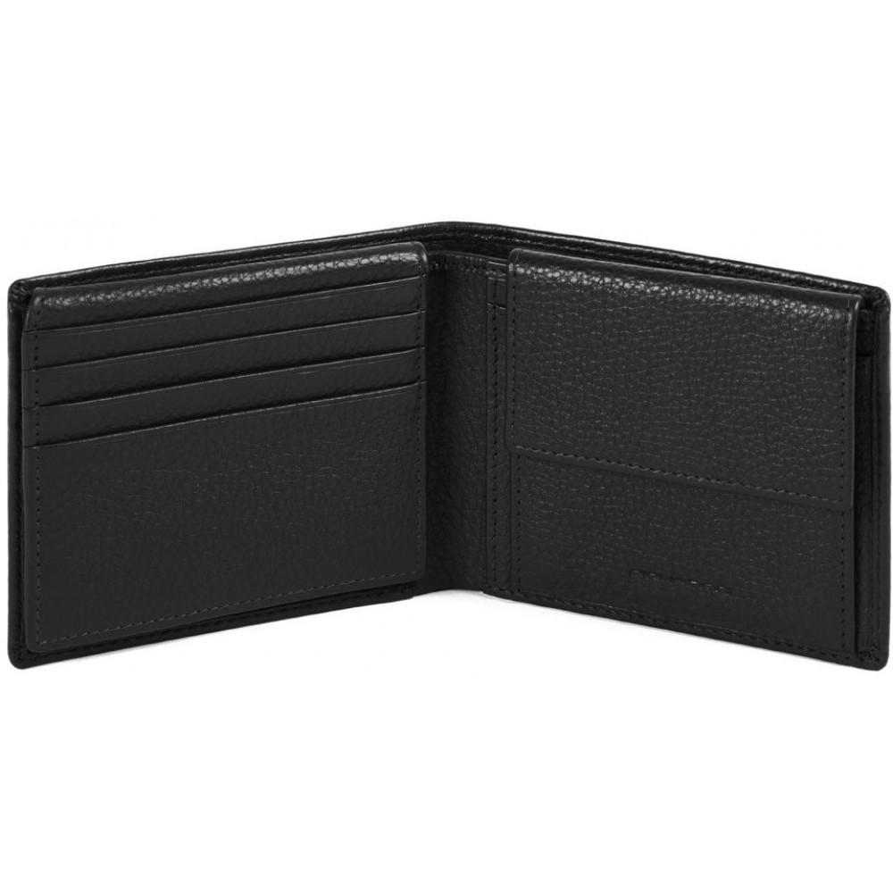 MODUS Restyling/Black Портмоне гориз. с отдел. для док. и монет с RFID защитой (11x9x2)