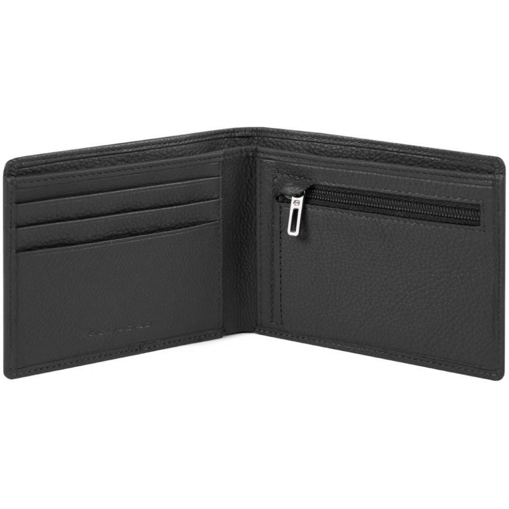 AKRON/Black Портмоне с отдел. для монет с RFID защитой (12x9,5x1,5)