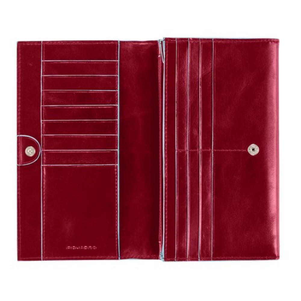 BL SQUARE/Red Портмоне жен. на кнопке (19x11x3,4)