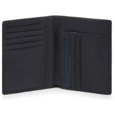 BRIEF/Blue Портмоне верт. с отдел. для 9 кред.карт с RFID защитой (9,5x12,5x1,5)