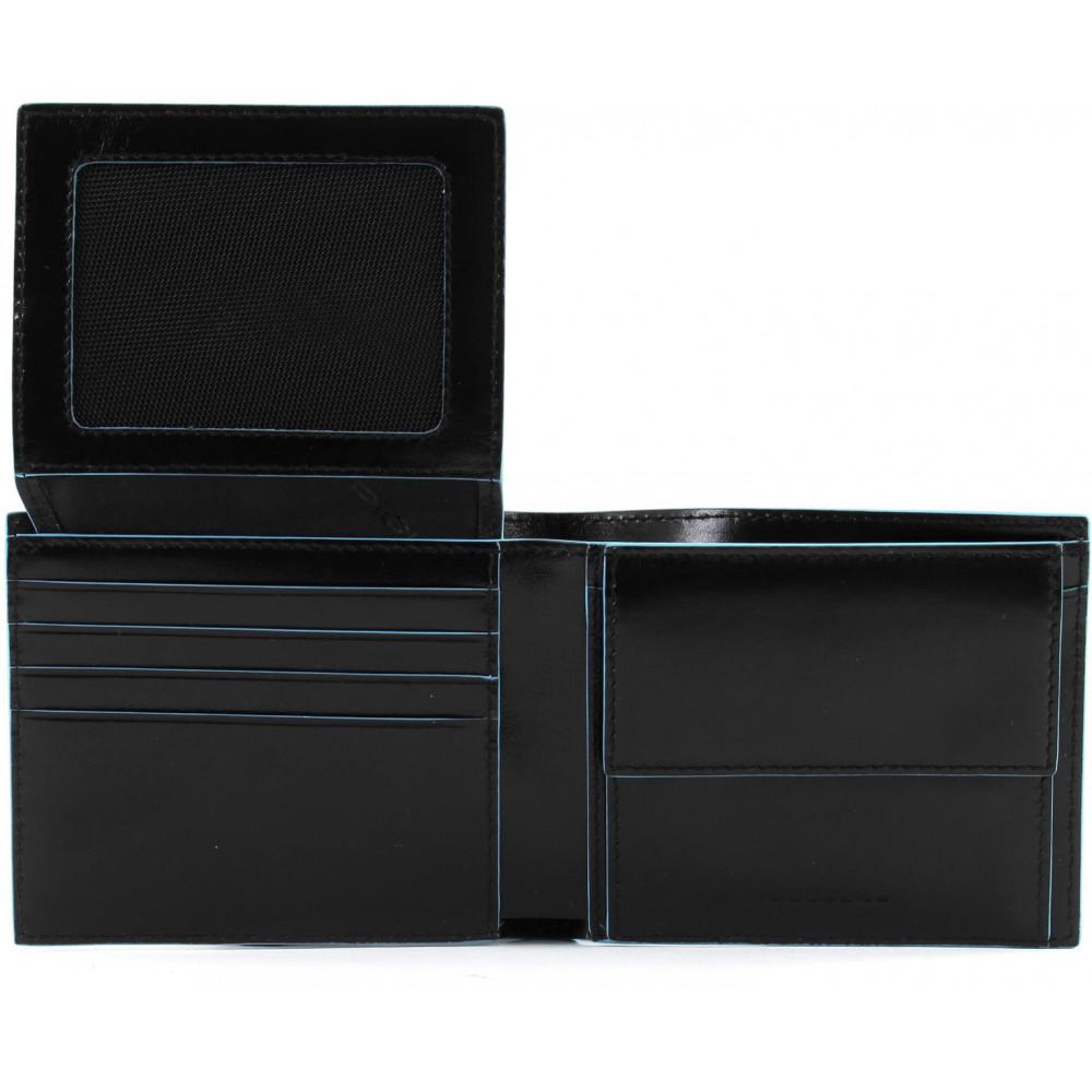 BL SQUARE/Black Портмоне гориз. с отдел. для док. и монет с RFID защитой (11x9x2)