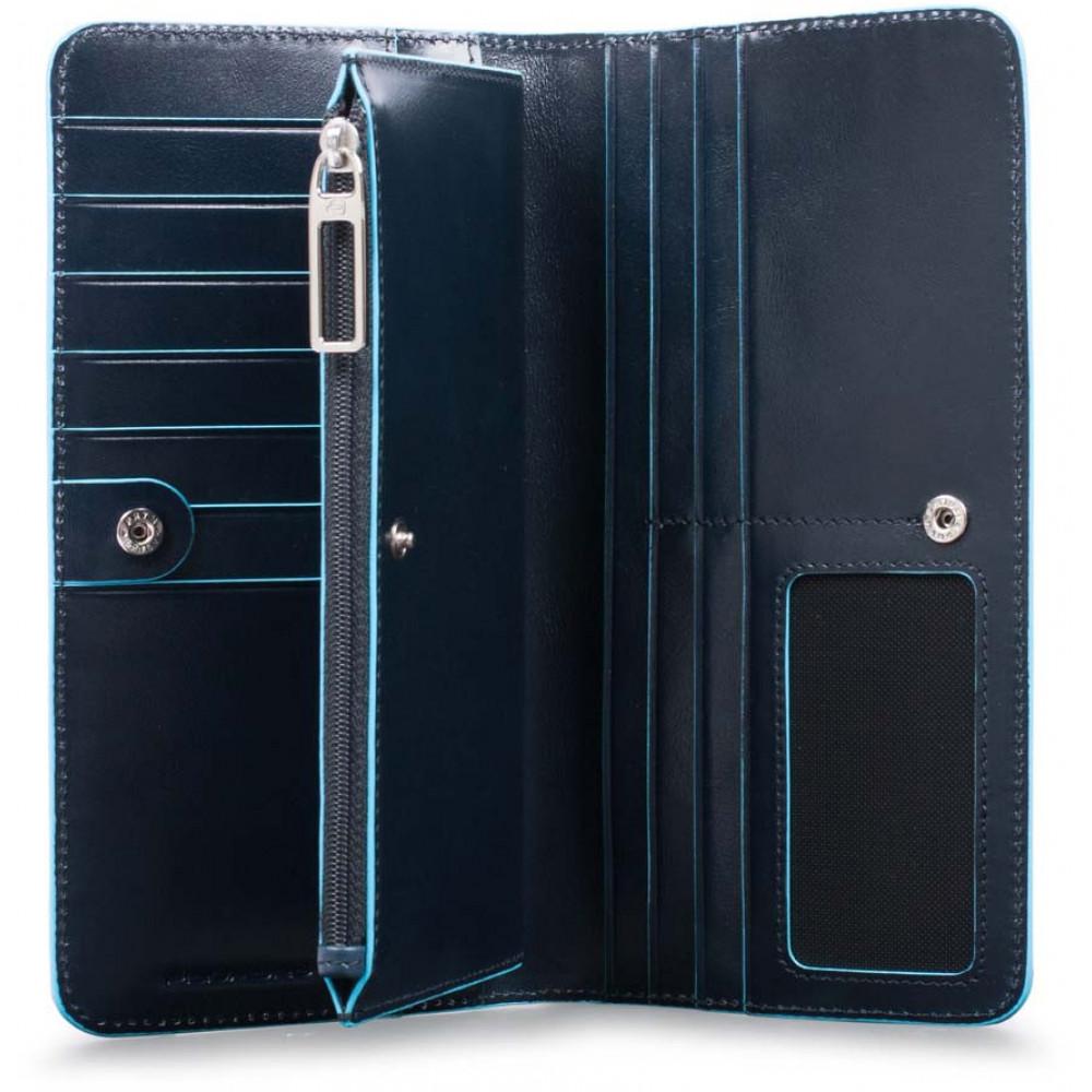 BL SQUARE/N.Blue Портмоне верт. с отдел. для 12 кред.карт с RFID защитой (10x20x2)