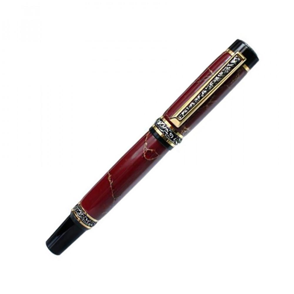 Подарочная ручка-перо Кембрідж червоний